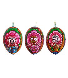 Pata Painting on 3 Sides of a Hanging Coconut