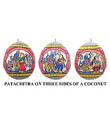 Pata Painting on Coconut Shell