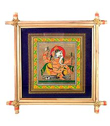 Lord Ganesha - Patachitra on Palm Leaf