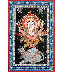 Ganesha Patachitra on Patti