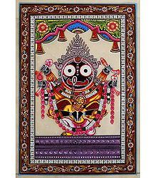Jagannathdev with Garuda - Patta Painting on Silk