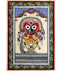 Jagannathdev - Patta Painting on Silk