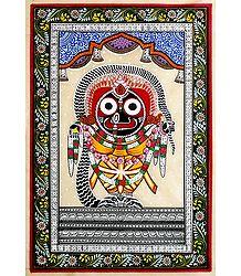 Jagannathdev - Pata Painting on Tussar Silk