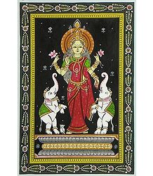 Buy online Gaja Lakshmi Patta Painting