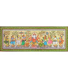 Orissa Pattachitra on Tussar Silk