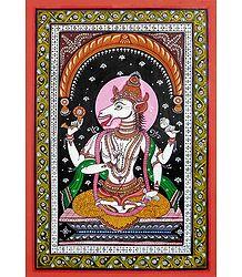 Varaha Avatar - Orissa Patta Painting