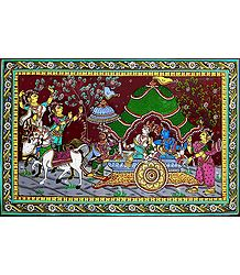 Mathura Vijay - Patta Painting on Silk