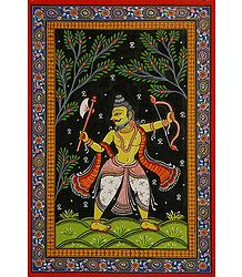 Parashurama Avatar - Orissa Pattachitra Painting