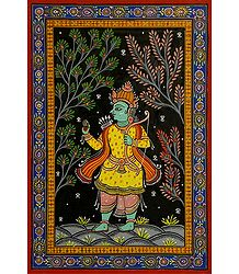 Rama Avatar - Pata Painting on Patti