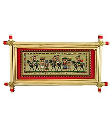 Tribal Farmers of India - Tribal Painting on Palm Leaf