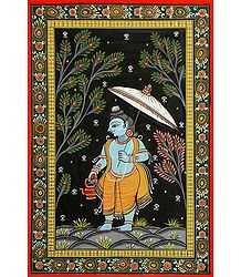 Vaman Avatar - Pata Painting on Patti