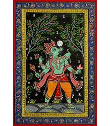 Varaha Avatar - Orissa Pattachitra Painting