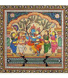 Yugal Milan of Radha Krishna