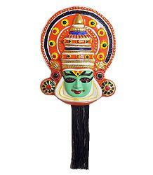 Kathakali Papier Mache Mask - Arjuna from Mahabharata