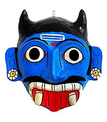 Mahishasura Cheriyal Saw Dust Mask for Wall Decoration