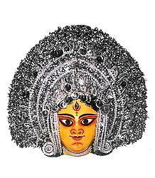 Devi Durga  Chhau Dance Mask - Papier Mache Craft