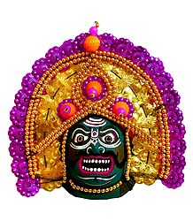 Papier Mache Chhau Dance Mask for Wall Decoration