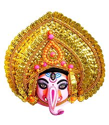 Chhau Dance Ganesha - Papier Mache Mask