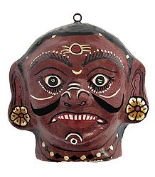 Buy Online Papier Mache Demon Mask