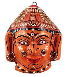 Papier Mache Mask of Durga