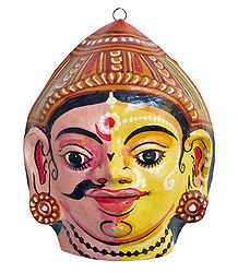 Papier Mache Combined Mask of Dushyant and Shakuntala