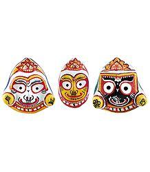 Jagannath,Balaram & Subhadra - Papier Mache Mask