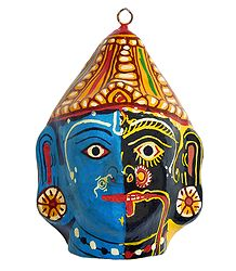 Papier Mache Combined Mask of Kali & Krishna