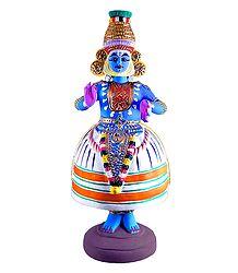 Kathakali Dancing Doll - Papier Mache