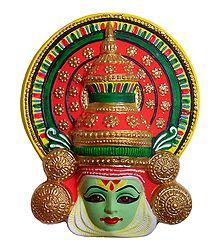 Kathakali Krishna Mask - Papier Mache