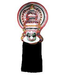 Kathakali Papier Mache Mask - Duryodhana from Mahabharata
