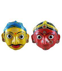 Couple Masks from Andhra Pradesh - Wall Hanging
