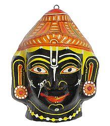 Lord Krishna Mask - Wall Hanging