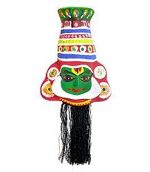 Kathakali Krishna Papier Mache Mask