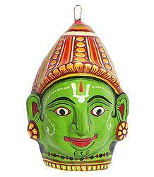 Lord Rama Mask - Wall Hanging
