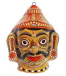 Papier Mache Mahishasura Mask