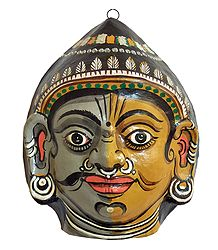 Papier Mache Combined Mask of Purush & Prakriti