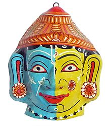 Radha Krishna Mask - Wall Hanging