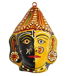 Papier Mache Combined Mask of Radha and Krishna