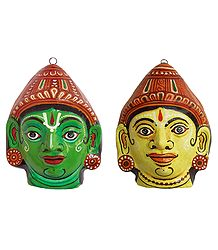 Buy Papier Mache Rama and Lakshmana Mask