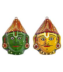 Buy Papier Mache Mask of Rama and Lakshmana