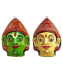 Buy Papier Mache Mask of Rama and Sita