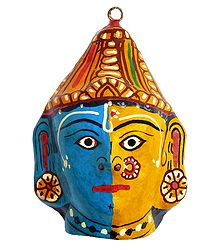 Papier Mache Combined Mask of Rama & Sita