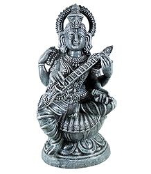 Devi Saraswati Sitting on Lotus