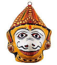 Papier Mache Mask of Sugreeva