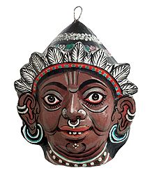 Tribal Woman - Papier Mache Mask