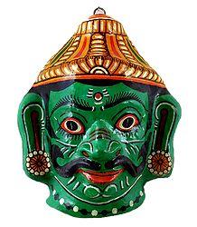 Vibhishana Papier Mache Mask - Wall Hanging