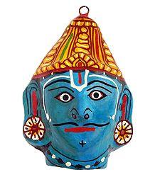 Papier Mache Mask of Vishnu