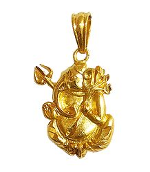Gold Plated Ganesha Pendant