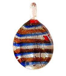 Striped Oval Pendant