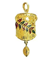 Gold Plated Lacquered Pendant
